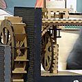 Trébuchet, engrenages et moulin...