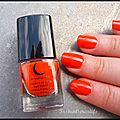Swatch vernis orange sanguine by sabrina azzi