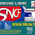 Usagers, contribuables, cheminots : sncf renationalisation complète !