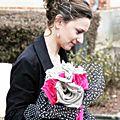 Mariée en <b>fuchsia</b>, noir, blanc et lin { Real wedding }