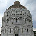 Toscane du Nord (4/19). <b>Pise</b> - La cathédrale et le baptistère.