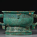 A bronze ritual food vessel, gui, Early Western Zhou Dynasty, <b>11th</b>-<b>10th</b> <b>century</b> <b>BC</b>