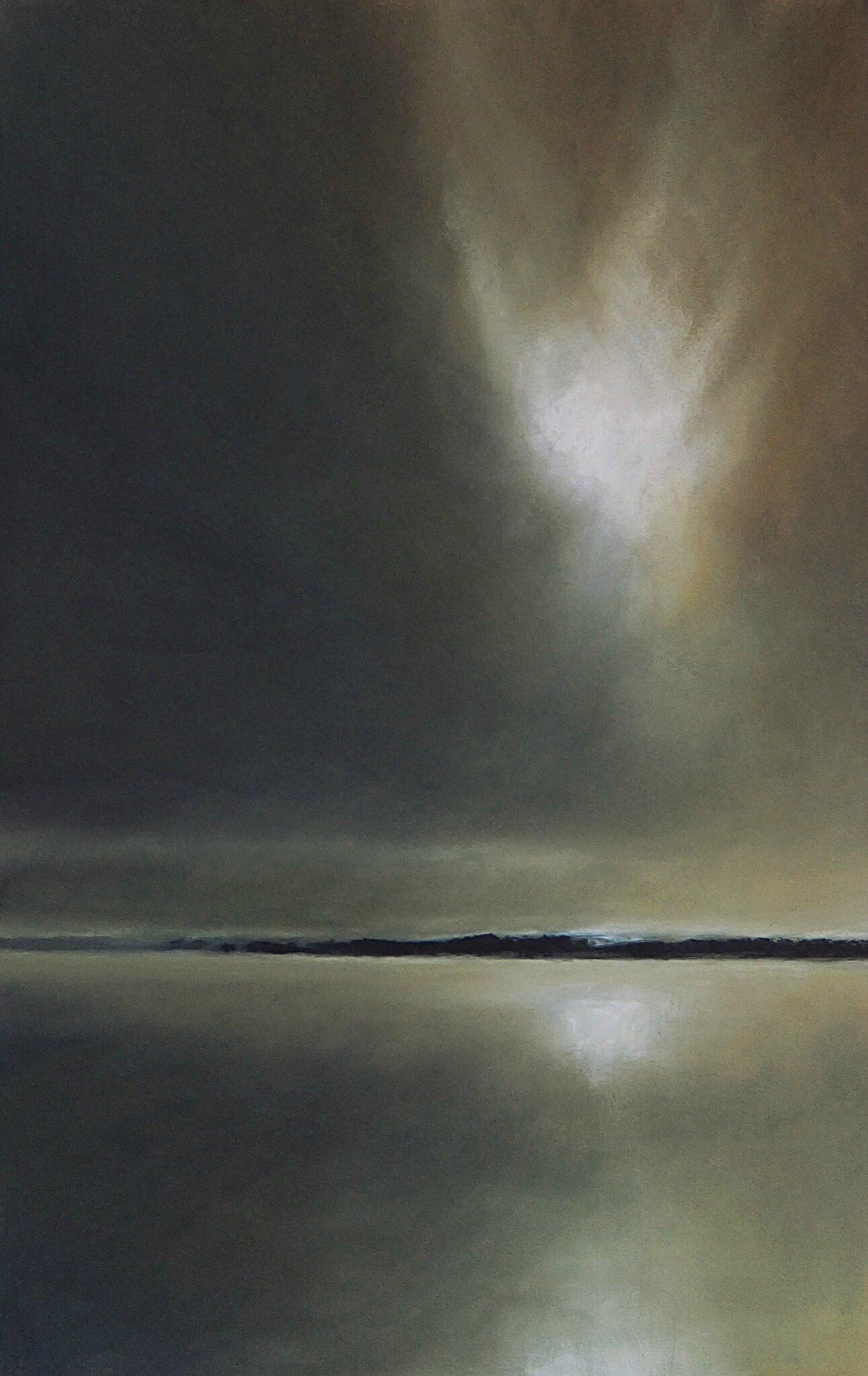 horizon elevation 40, nov 2015, pastel, 32 x 48 cm.