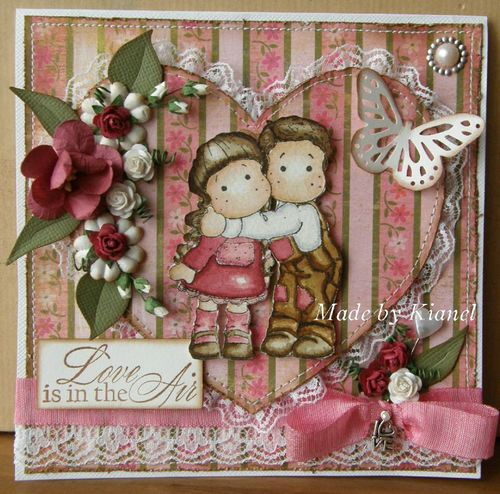 Magnolia Ink - 012011 - love is in the heart card - KIANEL