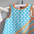 ★ petit ensemble robe bleu et orange t.18 mois