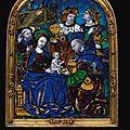 Belle plaque en émail peint représentant l'adoration des mages limoges, deuxième quart du xvie siècle, attribué à nardon pénicau