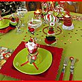 table de Noël rouge et anis 19