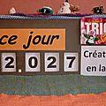 Tricot compteur solidaire du lundi 14 janvier 2013 : 2027 créations réceptionnées en 8 mois !