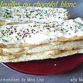 millefeuille au chocolat blanc