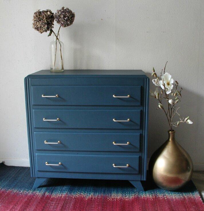 commode-vintage-bleu-nuit