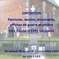 Eppe-sauvage - exposition du centenaire 14-18