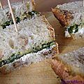 Sandwich pesto chèvre frais