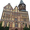 Kaliningrad, cathédrale de Königsberg, façade (Russie)