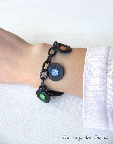 Bracelet vinyles Au pays des Cactus