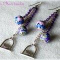 Des perles en <b>fimo</b> ... des zozios qui se balancent ... des <b>boucles</b> <b>d</b>'<b>oreille</b> !
