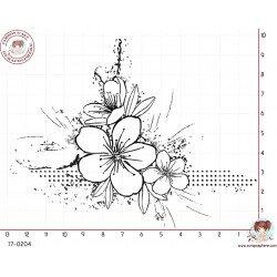tampon-coin-grunge-fleur-par-lily-fairy