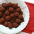 Les truffes au chocolat {100 % végétales}