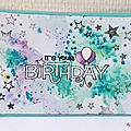 Birthday card. Carte d'anniversaire. par Air Incolore