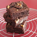 Double chocolate and nut brownies : awesome !!