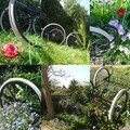 Les roues dans les fleurs