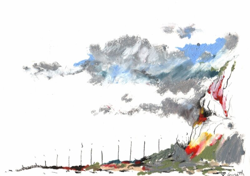 paysage montagne pastel