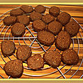 Biscuits au chocolat, faible ig