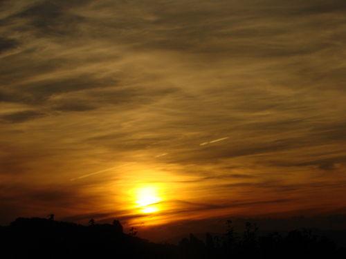 2008 09 23 Le coucher du soleil à Allex dans la Drôme