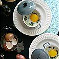 Œufs cocotte aux épinards, chèvre frais & huile de truffe noire - huevos cocotte a las espinacas, queso de cabra & trufa