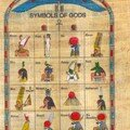 Symbols of gods and godesses