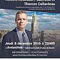 Législatives 2017 : réunion publique de thomas collardeau à avranches - jeudi 8 décembre 2016
