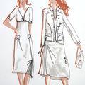 Croquis de mode femme