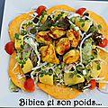 Salade exotique poulet et mangue au curry