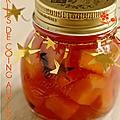 Petits pots, petits cadeaux en pots, pickles de coing aux epices !