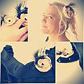 parure bijou fleur plume champagne noir femme mariage bijou de chaussure bague broche barrette cereza deco 7