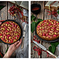 Tarte rhubarbe et fraise géométrique