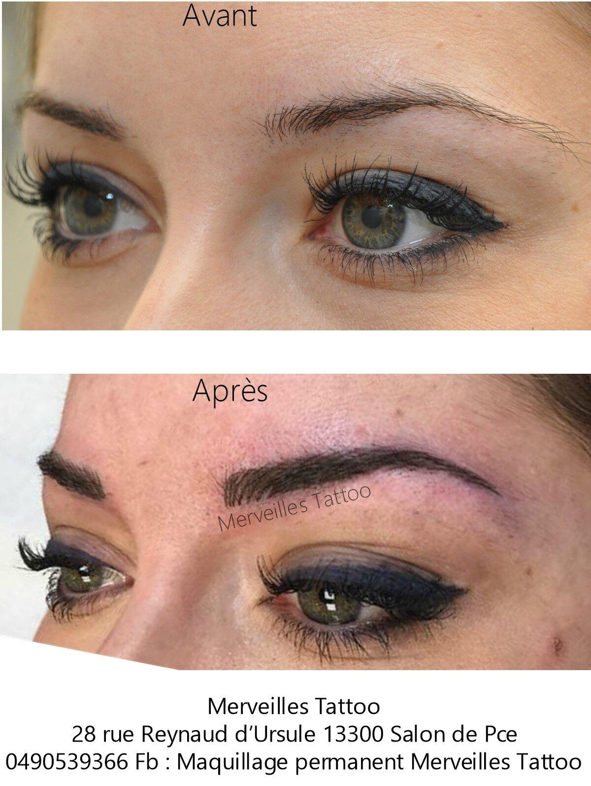 Maquillage permanent des sourcils poil à poil sophistiqué