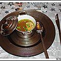 Bouillon de pot au feu et sa tranche de foie gras de canard