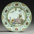 Assiette, Chine, XVIIIème siècle d'après <b>Cornelis</b> <b>Pronck</b> (1691-1759)