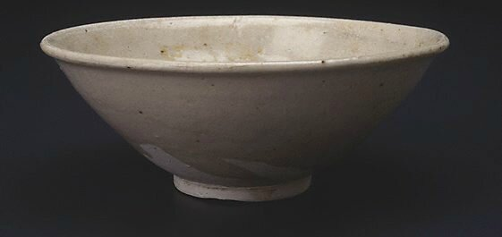 Bowl with moulded decoration, Viet Nam Export ware (South East Asia market), 15th century-16th century, grey stoneware with grey-green glaze, 6.0 x 16.4 cm. Gift of Dr John Yu & Dr George Soutter 2002. 163.2002. Art Gallery of NewSouth Wales, Sydney (C) Ar