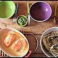 Délice intergalactique - saumon confit et salade de fenouil
