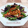 Picodons chauds en croûte de panko & sa petite salade