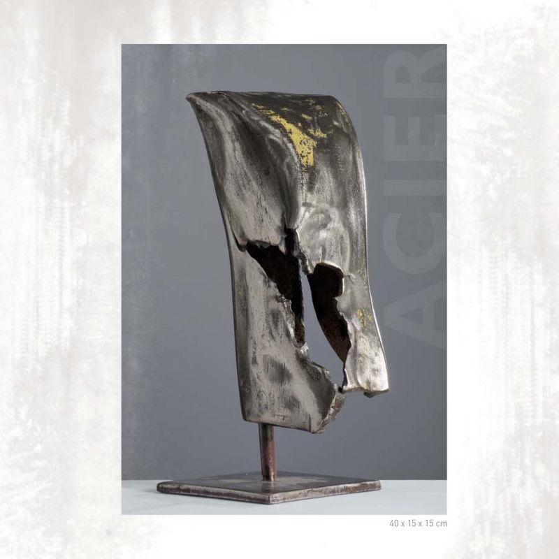 sculptures acier thierry dehais sculpteur. Black Bedroom Furniture Sets. Home Design Ideas