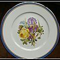 4 assiettes dans le style de Sèvres