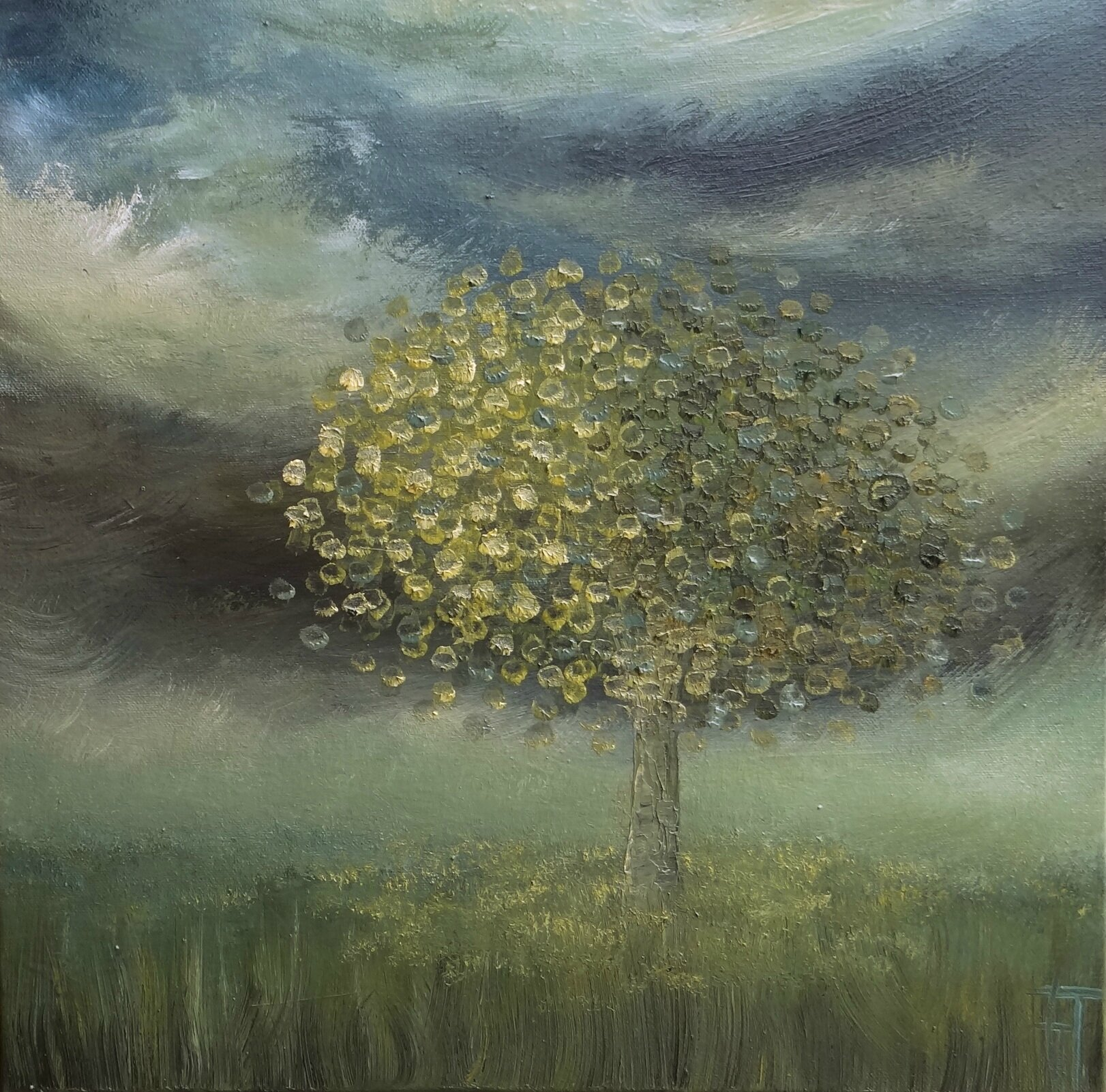 Yellow tree - Huile sur toile