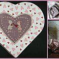 Une boîte thème coeur, échange Catichou (on est fait pour s'entendre)