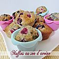 Muffins au son d'avoine et aux fruits rouges