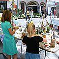 Floralies Sénas Animation atelier l-arbre de la récup 8 mai 2013 Alizée et Lorenna