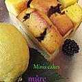 Minis cakes mûre-citron