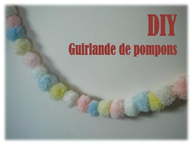 diy la guirlande de pompons the perfect mum. Black Bedroom Furniture Sets. Home Design Ideas