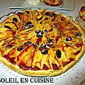 Recette d'une tarte sablée aux pommes et raisin secs
